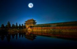Beijing the Imperial Palace night full moon, by Mr. SW