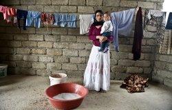 Yazidi Woman and Child
