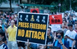 Press Freedom march in Hong Kong