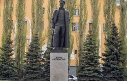 May 02 2016: monument to Felix Dzerzhinsky in Ufa city