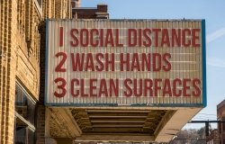 Social Distancing, Wash Hands, Clean Surfaces