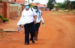 Community Healthcare Workers conduct door to door screening for COVID-19 in South Africa