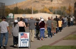 Voters in Sparks, Nevada go to the polls on Election Day (November 4th) 2020
