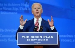 President-elect Joe Biden delivers remarks on COVID-19 at The Queen Theater in Wilmington on 11/09/2020