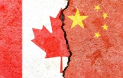 Canada/China Flag Divide