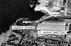 US reconnaissance photo of Soviet missile site at Mariel Naval Port, Cuba, November 8, 1962